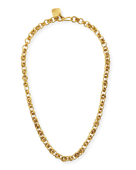 Ashley Pittman Mini Chain Bronze Necklace, 21