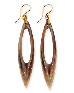 Ashley Pittman Shuka Earrings, Light Horn