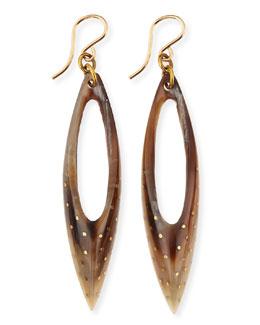 Ashley Pittman Shuka Earrings, Light Horn
