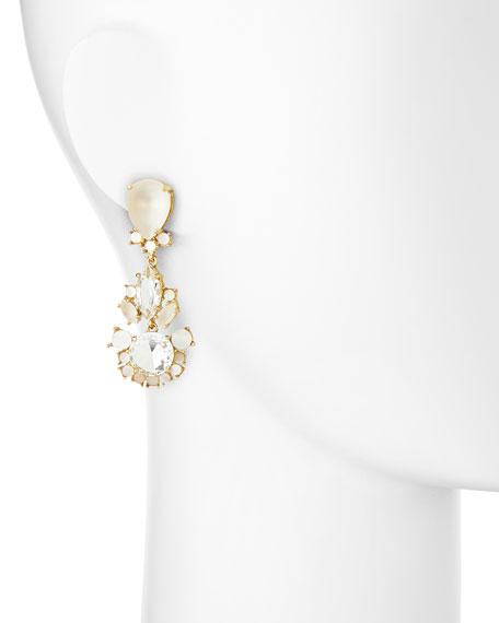 grand bouquet statement earrings, clear