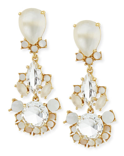 kate spade new york grand bouquet statement earrings, clear