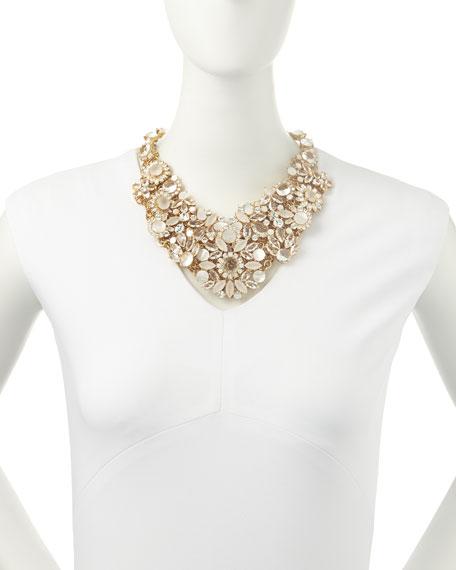 grand bouquet statement necklace, clear