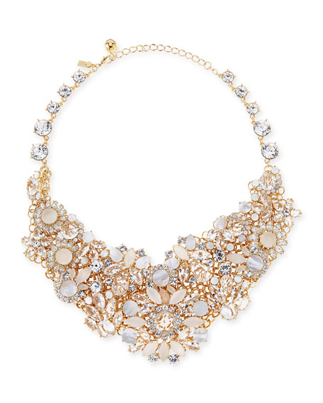 grand bouquet statement necklace, clear