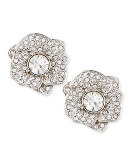 kate spade new york rose garden pave crystal stud earrings