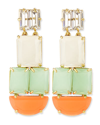 kate spade new york varadero tile statement earrings