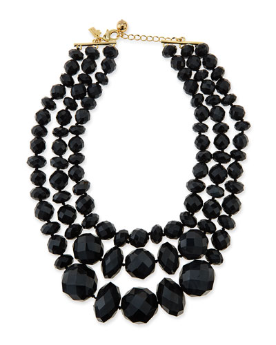 kate spade new york give it a swirl faceted bead necklace