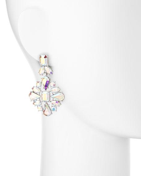 capital glow silvertone statement earrings