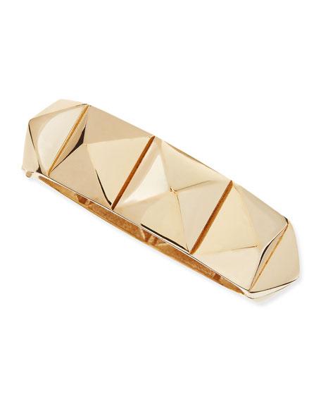 Medium Rockstud Bracelet, Golden
