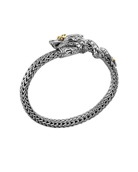 Naga Bracelet with 18k Gold Dragon