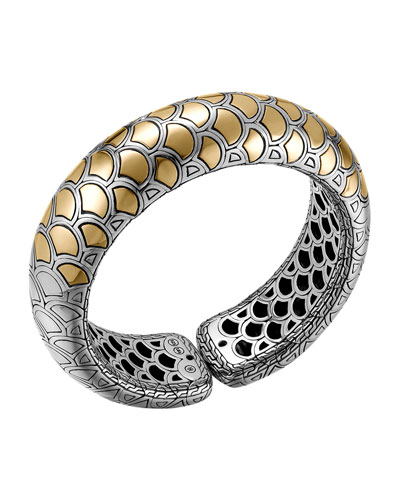 John Hardy Naga Gold & Silver Bold Flex Cuff