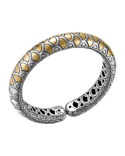 John Hardy Naga Gold & Silver Flex Cuff, Slim 11.5mm, Size M