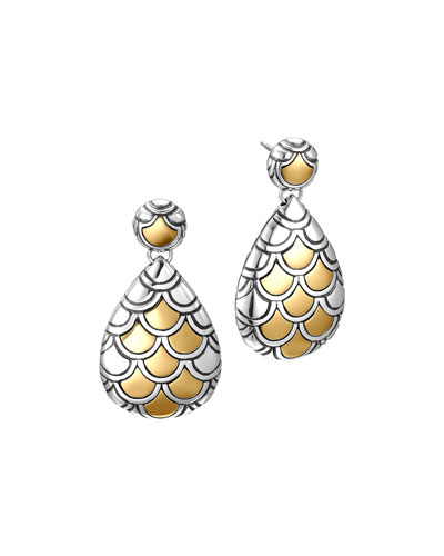 John Hardy Naga Gold & Silver Pearl-Shape Earrings