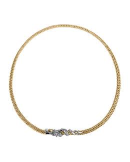 "John Hardy Naga Gold & Silver Small Two Tone Dragon Station Necklace, 18""L"