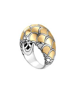 John Hardy Naga Gold & Silver Dome Ring, Size 7