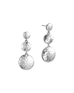 John Hardy Palu Silver Triple Drop Linear Earrings
