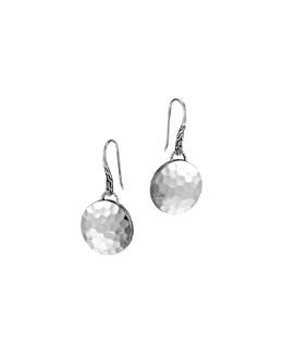 John Hardy Palu Silver Round Drop Earrings