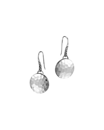 John Hardy Palu Silver Round Drop Earrings