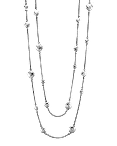 "John Hardy Palu Silver Disc Stations Sautoir Necklace, 36""L"