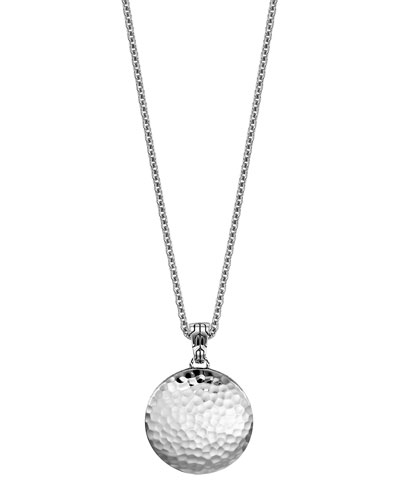 "John Hardy Palu Silver Medium Round Pendant Chain Necklace, 24""L"