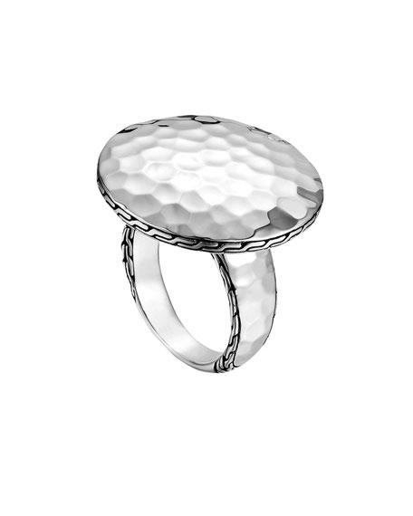 Palu Silver Round Ring, Size 7