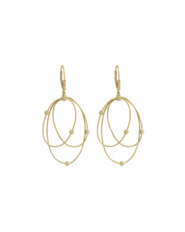 Lagos 18k Gold Caviar Ball 3-Hoop Earrings