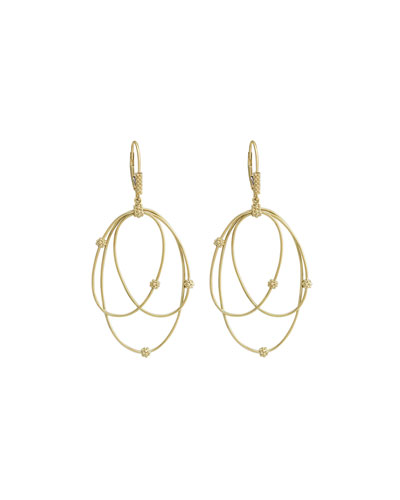 Lagos 18k Gold Caviar Ball 3-Hoop Earrings