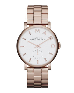MARC by Marc Jacobs 36.5mm Rose Golden Baker Analog Watch