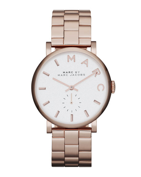 36.5mm Rose Golden Baker Analog Watch