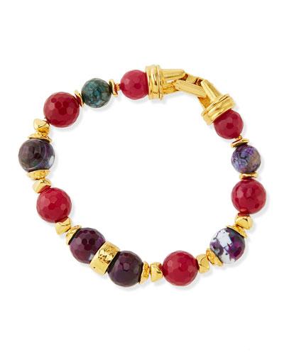 Jose & Maria Barrera Deep Red Single Strand Bracelet