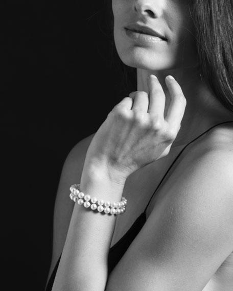 Luna Pearl Double-Strand Bracelet, 7mm