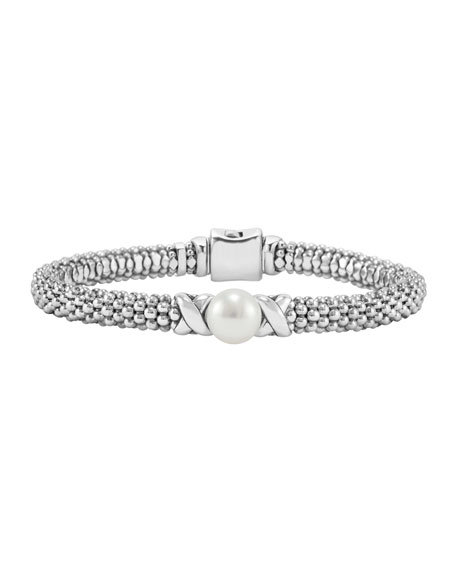Luna 8mm Pearl & 6mm Caviar Rope Bracelet