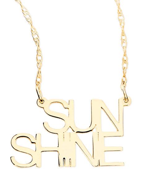 18k White Gold Vermeil Sunshine Necklace