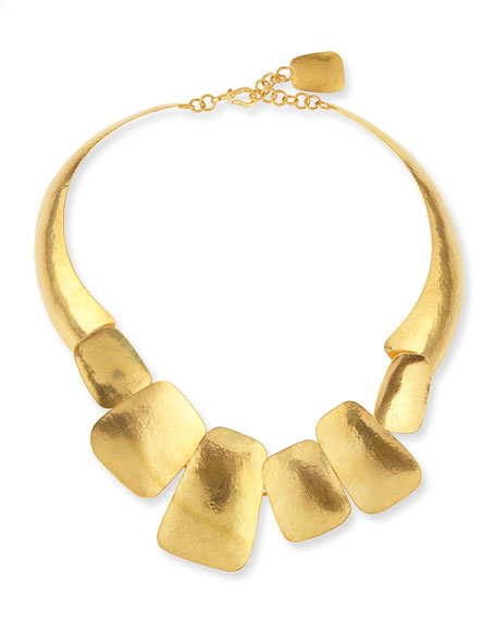Yucata 24k Gold-Plated Collar Necklace