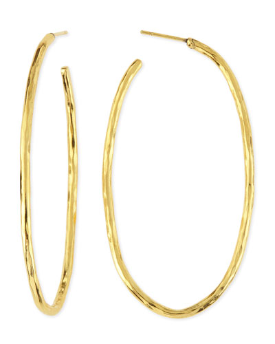 Epure 24k Gold-Plated Simple Tube Hoop Earrings