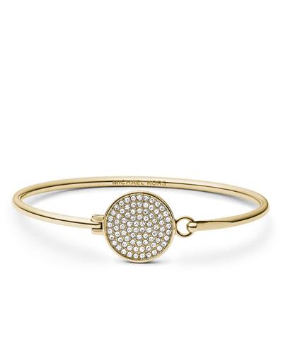 Michael Kors  Pave-Crystal Tension Bracelet, Golden
