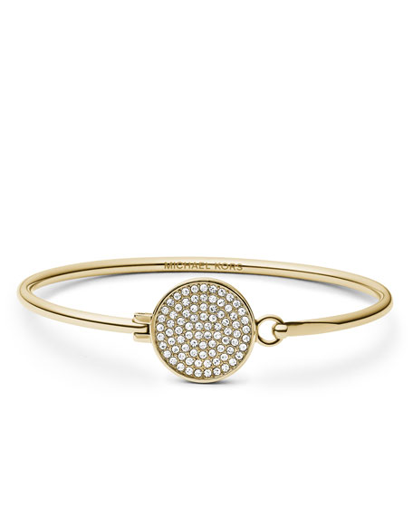 Pave-Crystal Tension Bracelet, Golden