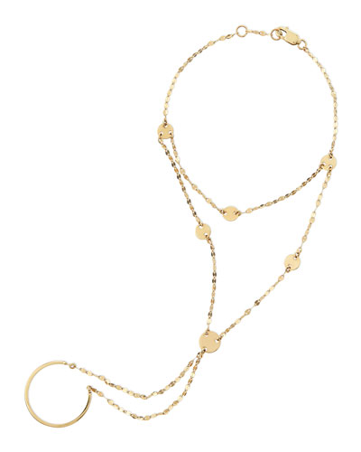 Lana 14-Karat Yellow Gold Disc Lariat Hand Chain