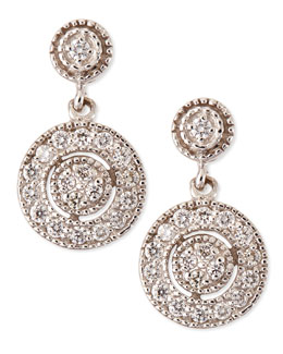 KC Designs Antiqued Pave Diamond Round Earrings