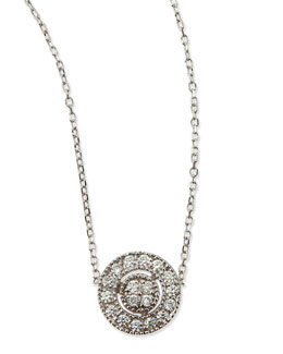 KC Designs Round Antiqued Pave Diamond Necklace