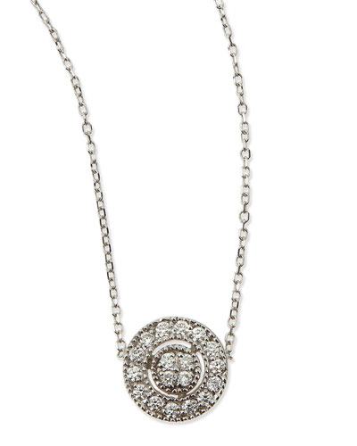 Round Antiqued Pave Diamond Necklace
