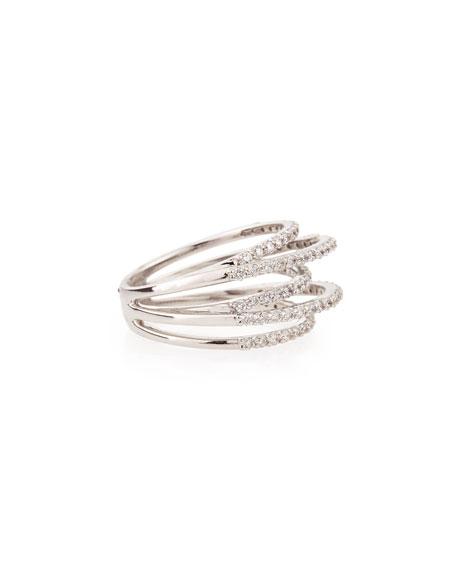 Diamond Roller Coaster Multi-Band Ring