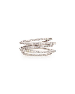 KC Designs Diamond Roller Coaster Multi-Band Ring