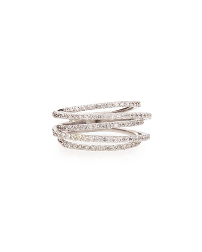 Diamond Roller Coaster Multi-Band Ring