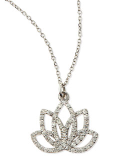 KC Designs Diamond Lotus Flower Necklace