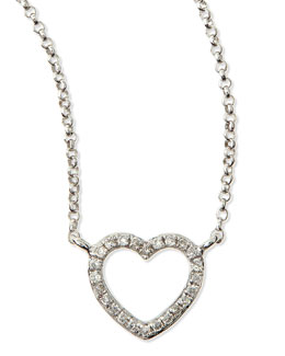 KC Designs White Gold Diamond Heart Pendant Necklace