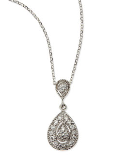 KC Designs Teardrop Antiqued Pave Diamond Necklace