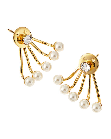Paired Pixie Pearl Earrings