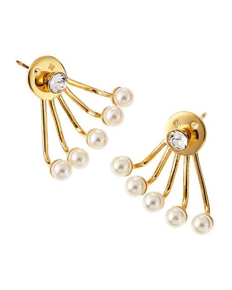 Paired Pixie Pearl Earrings
