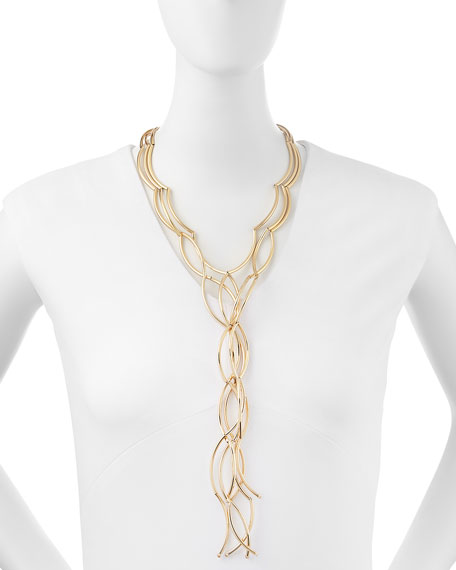 Gold-Plated Twisted Necklace