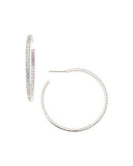 Fantasia by DeSerio 3.4 TCW Cubic Zirconia Hoop Earrings